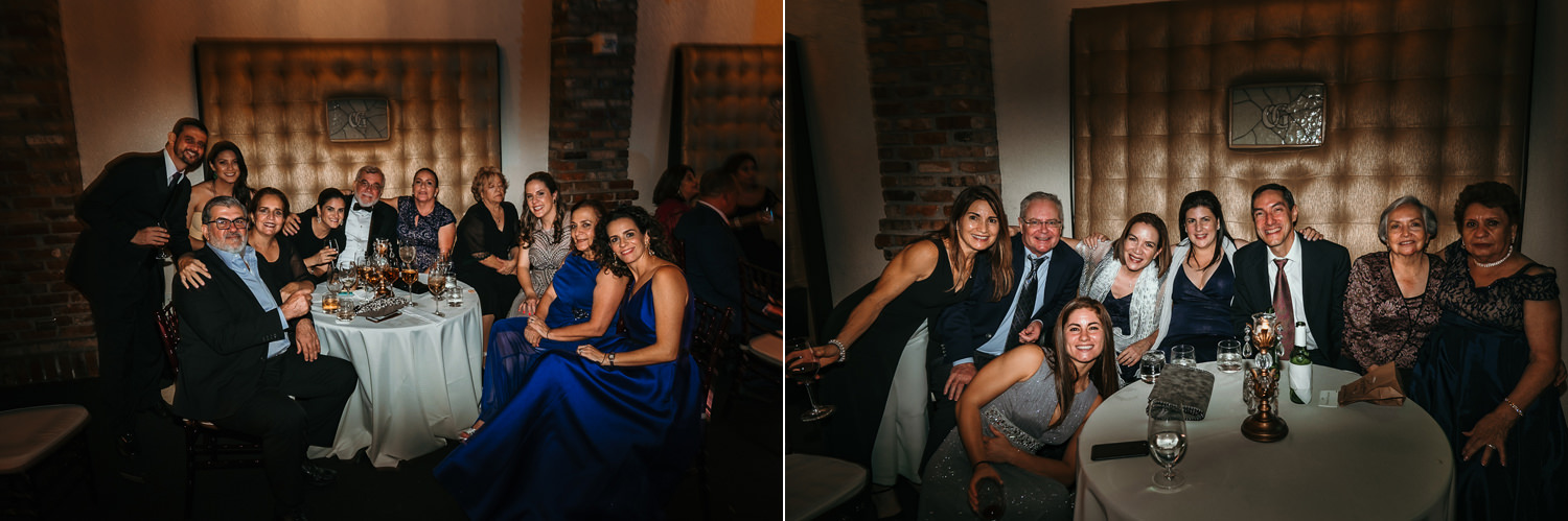 photos of guests sitting at tables