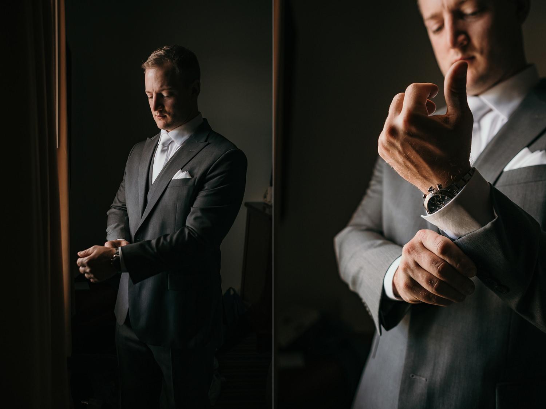 groom fixing sleeve low light