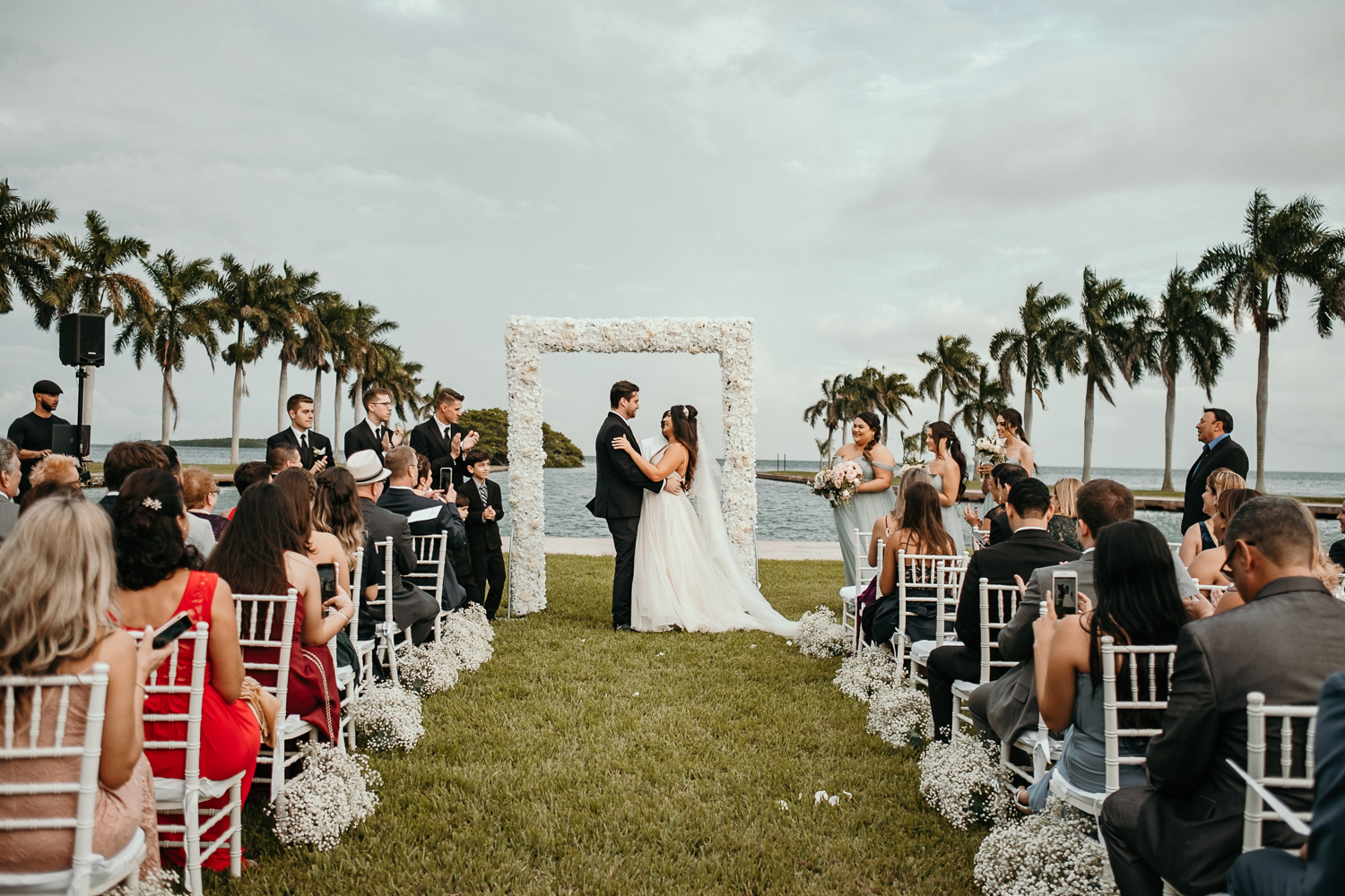 wide view of ceremony