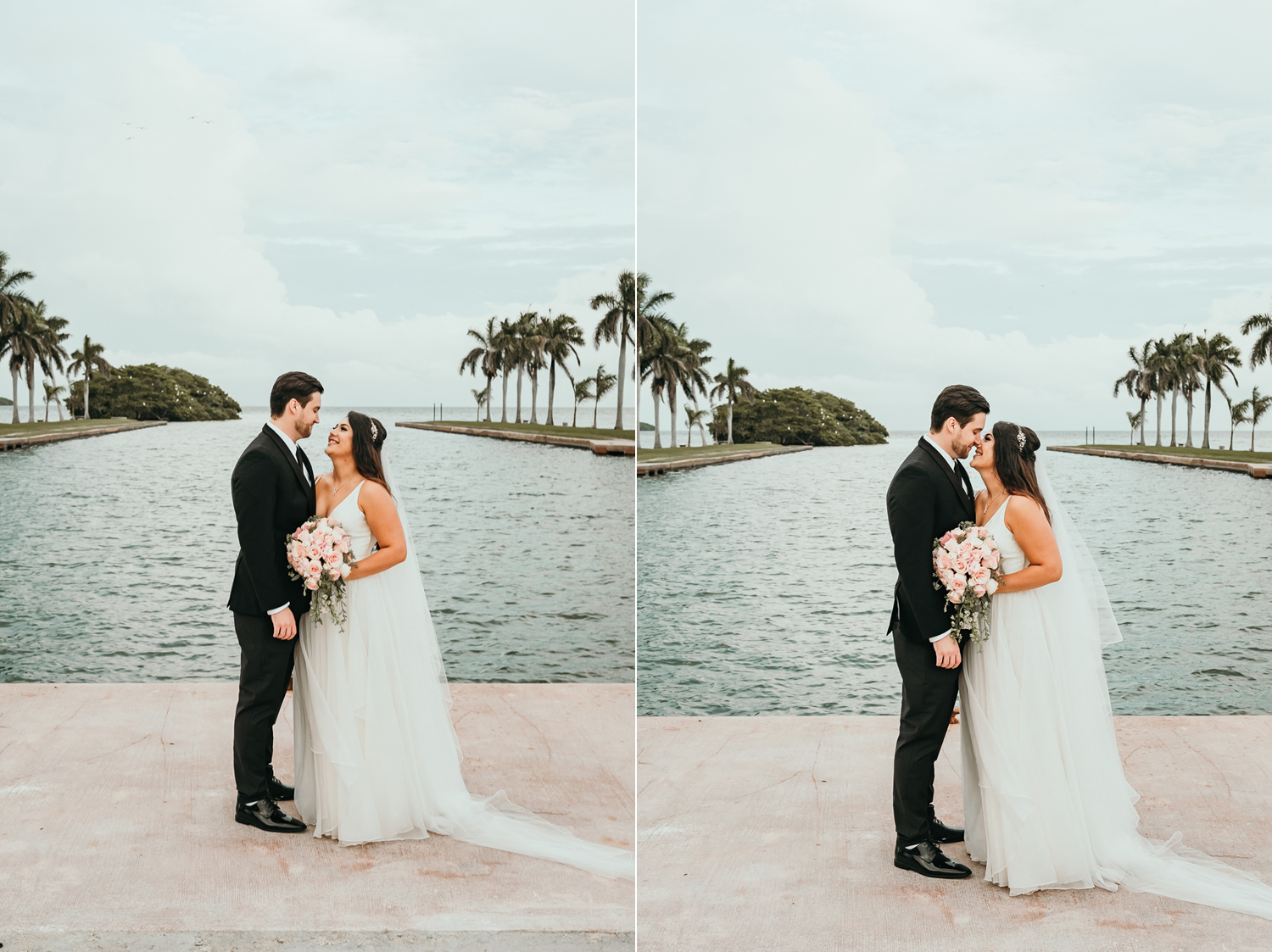 couple in front of lake view
