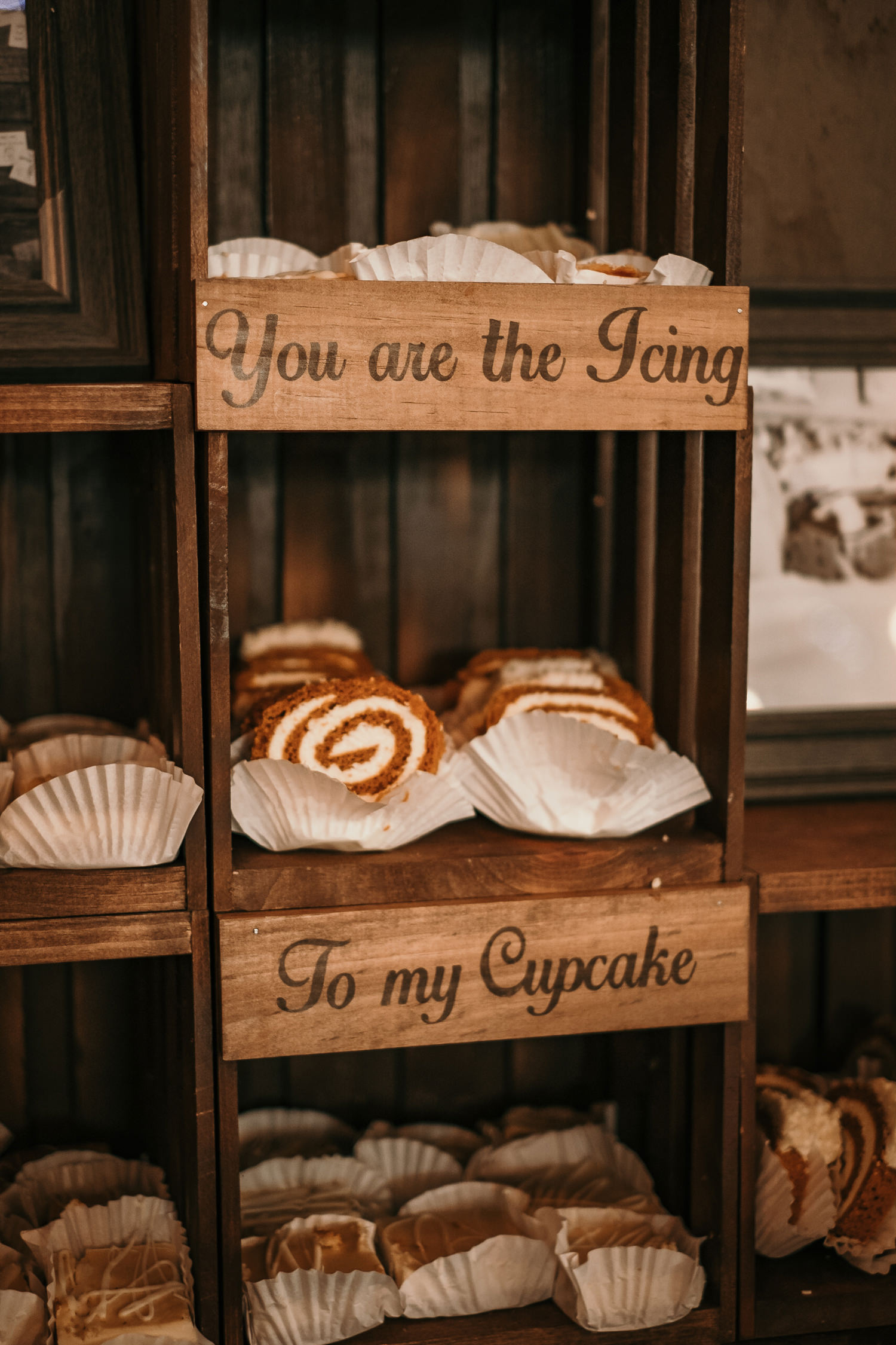 close up of cupcakes with a sign saying you are the icing to my cupcake