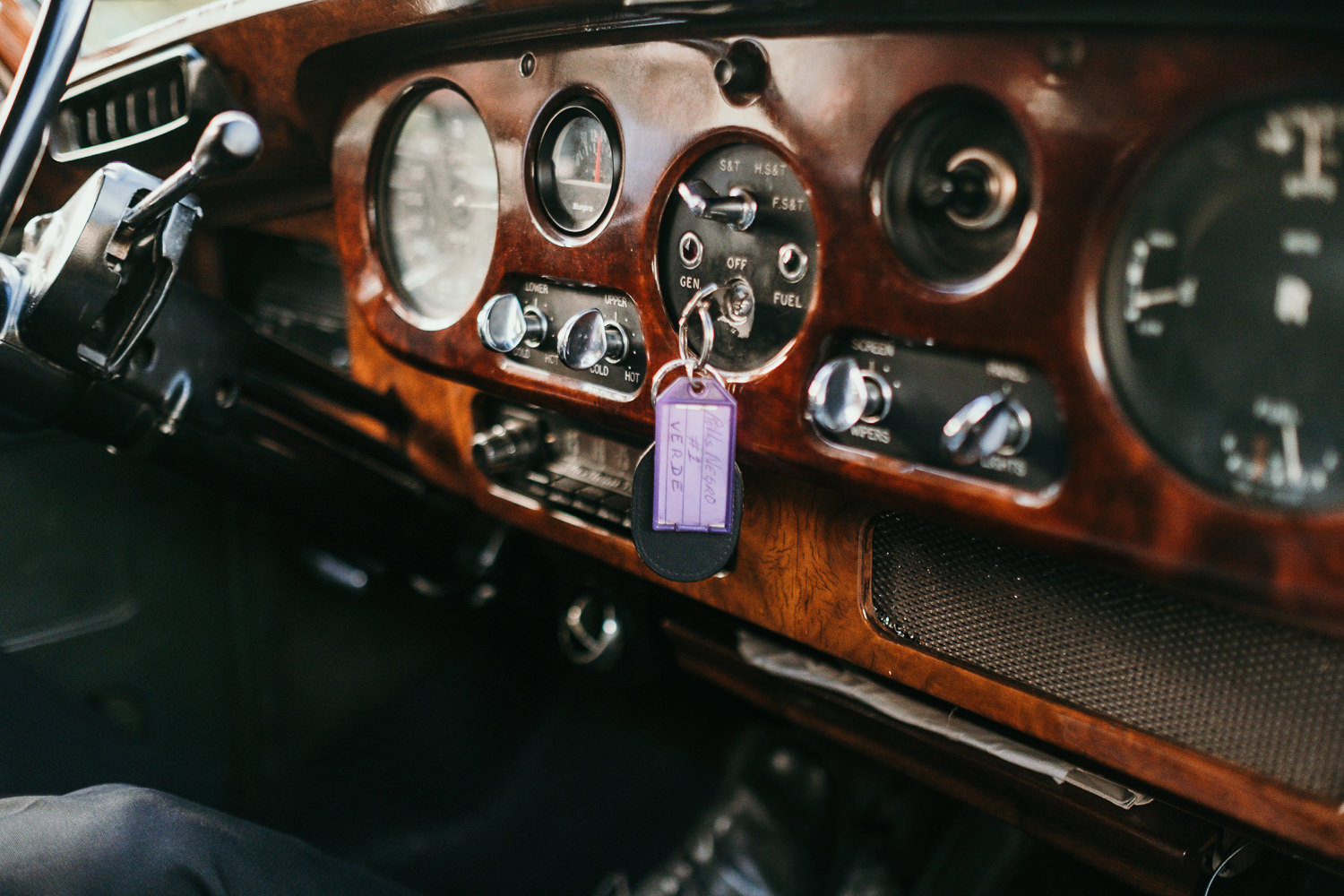 dashboard of vintage rolls royce