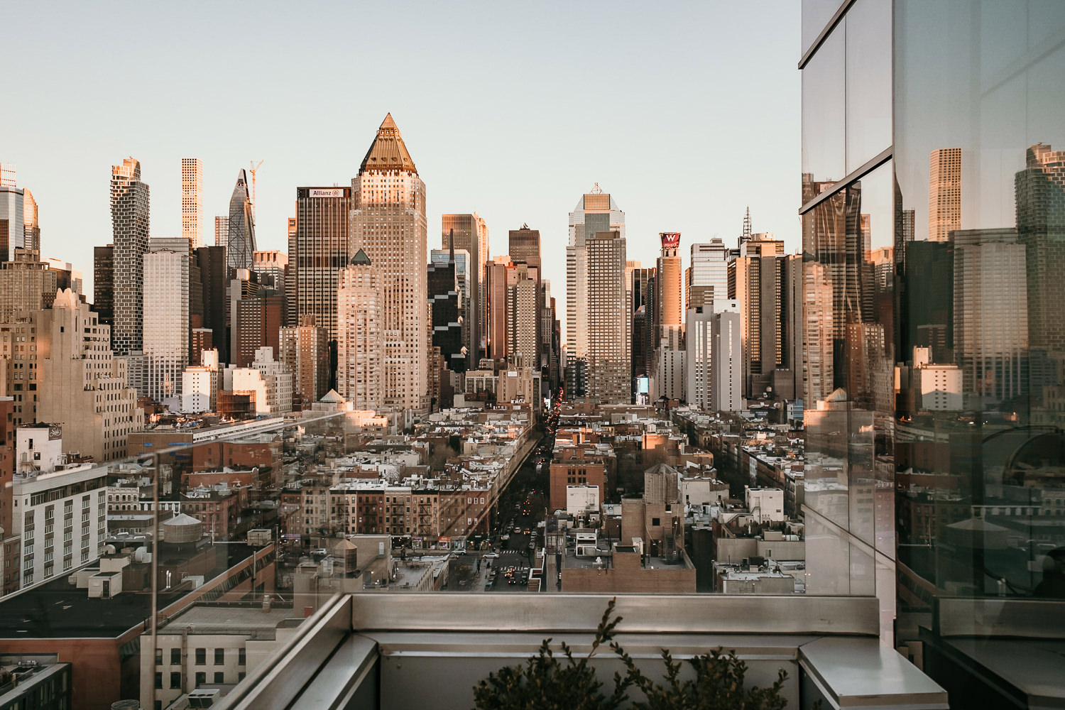 rooftop view of New York city skyline